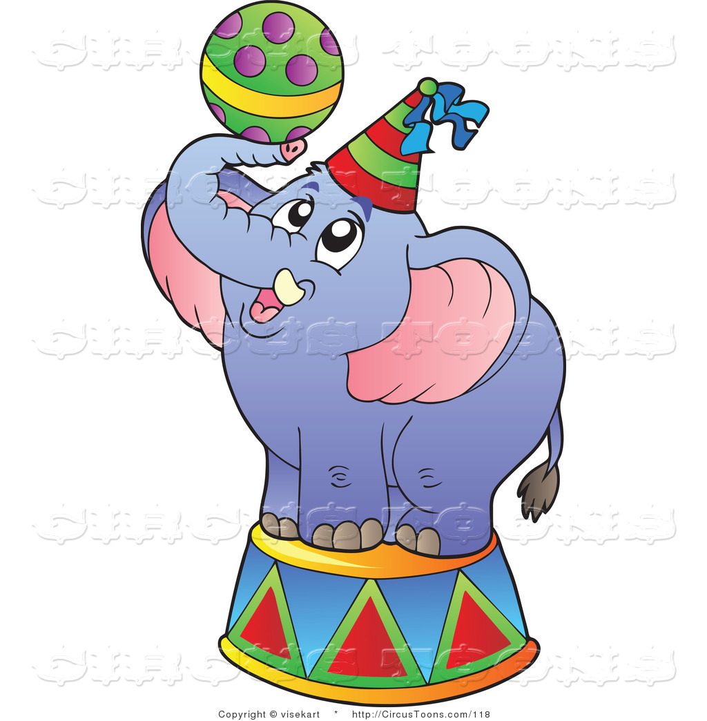1024x1044 Lovely Design Circus Elephant Clipart Of A Blue With Ball By