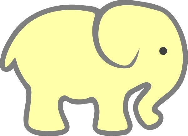 600x436 Ba Shower Elephant Clipart Yellow Clip Art Library Baby Shower