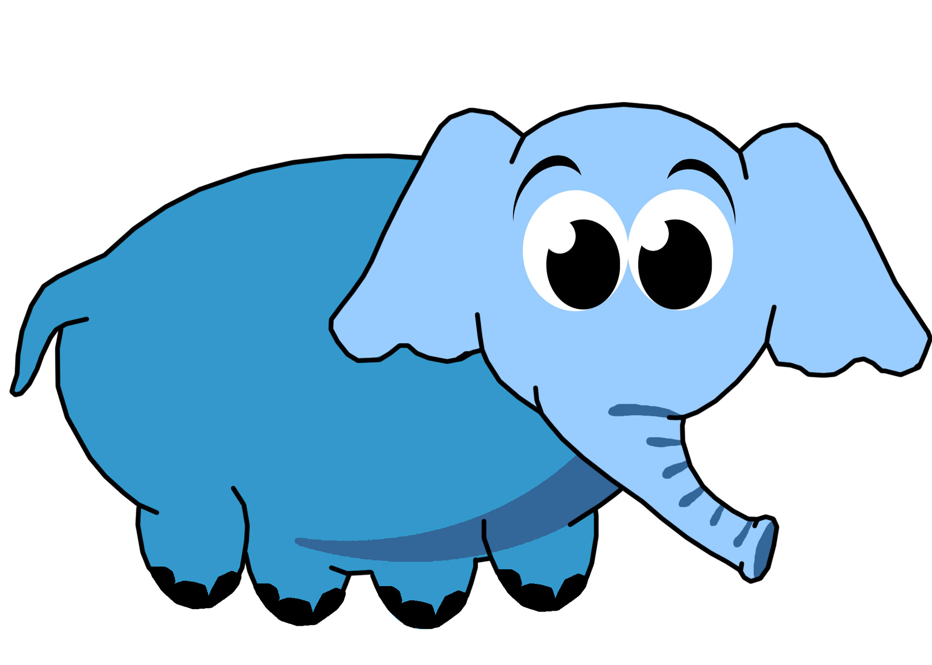 1920x1371 Blue Elephant Clip Art Free Stock Photo