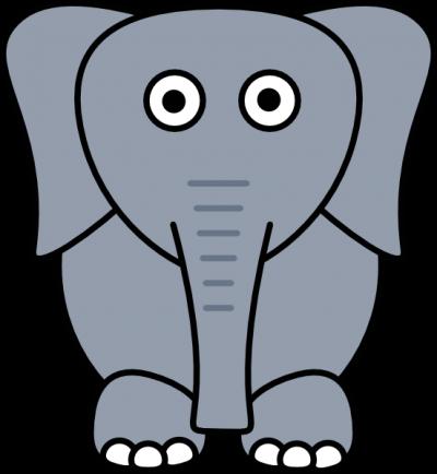 400x434 Elephant Clipart Clipartaz Free Clipart Collection