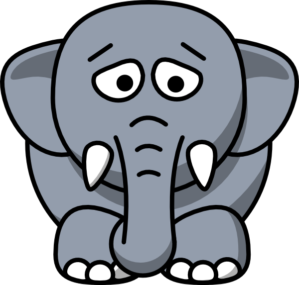 600x573 Collection Of Crying Elephant Clipart High Quality, Free
