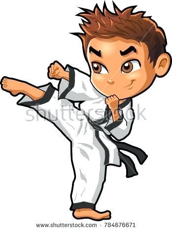 349x470 Karate Pictures Clip Art Karate Martial Arts Do Vector Cartoon Boy