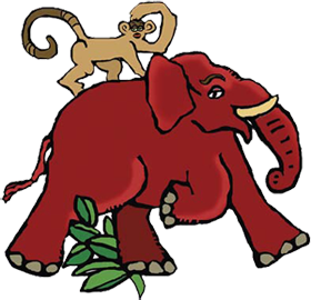 280x270 Collection Of Red Elephant Clipart High Quality, Free
