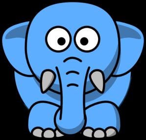 298x285 Cartoon Elephant Clip Art