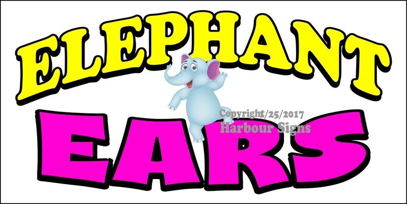 800x401 Elephant Ears Food Concession Vinyl Decal Sticker