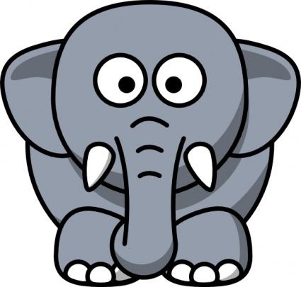 425x405 Free Download Of Cartoon Elephant Clip Art Vector Graphic