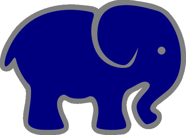 600x436 Gray Clipart Blue Elephant