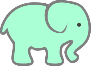 297x216 Green Baby Elephant Clip Art Svg Baby Elephants