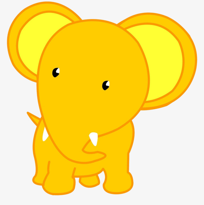 650x651 Yellow Elephant, Yellow, Big Ear, Small Eyes Png Image And Clipart