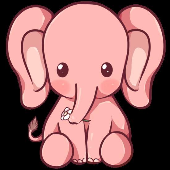 550x550 Kewaii Elephant By Dessineka D9013mq Libros