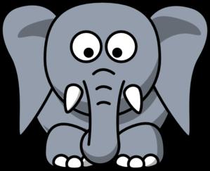 299x243 Cartoon Elephant Clip Art