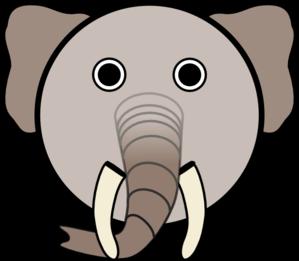 299x261 Circle Elephant Head Clip Art