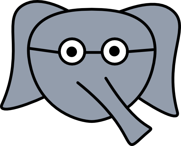 600x486 Elephant Face Glasses Clip Art