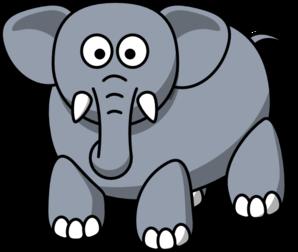 298x252 Elephant Front View Clip Art