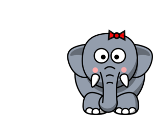 300x225 Free Elephant Clip Art Outline Elephant Stock Illustration 2