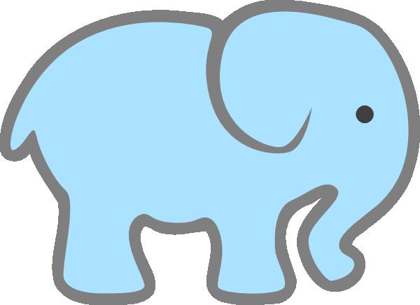 600x436 Elephant Face Clipart Elephant Face Template Printable Lt Blue Ba