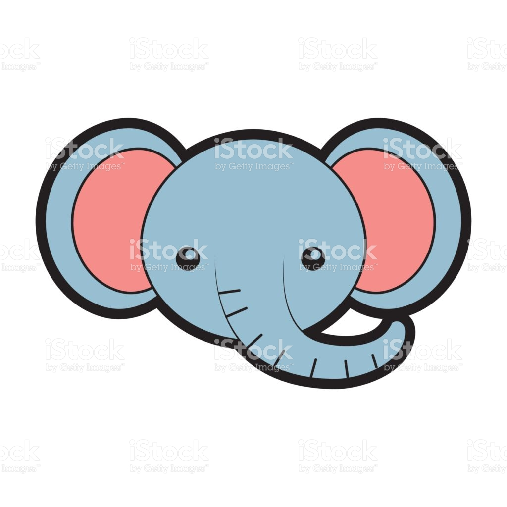 1024x1024 Collection Of Elephant Face Clipart High Quality, Free
