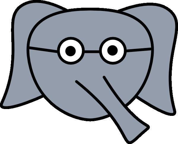 600x486 Elephant Face Clipart