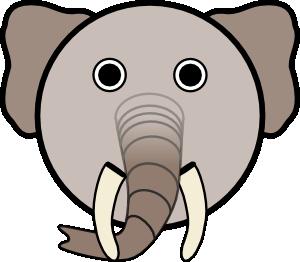 300x262 Elephant Head Clipart Clipart Panda