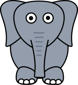 276x300 Gray Elephant Clip Art