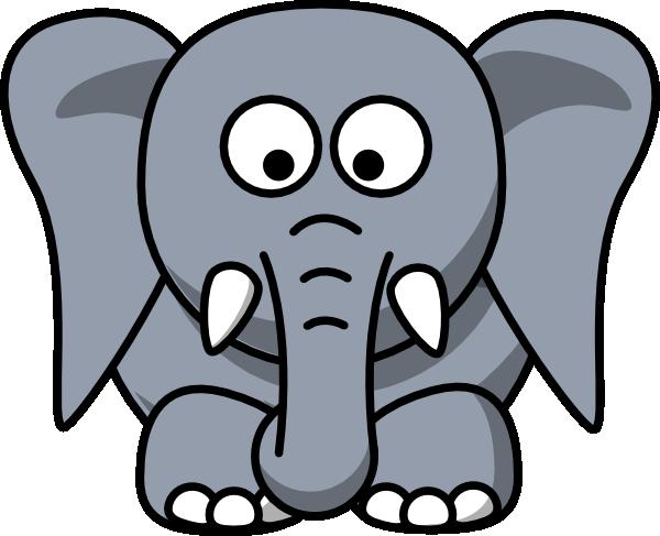600x487 Image Of Elephant Head Clipart