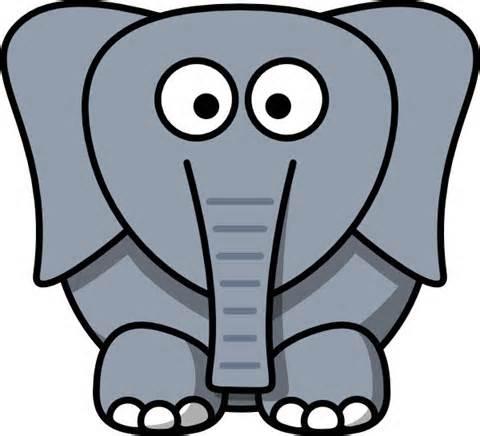 480x436 Image Of Elephant Head Clipart