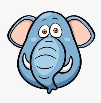 352x360 Like, Lovely, Elephant Head, Cartoon Png Image And Clipart
