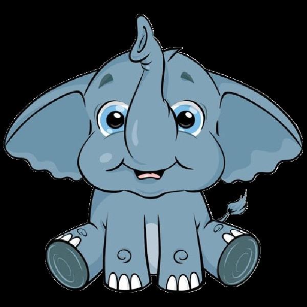 600x600 Baby Elephant Head Clip Art