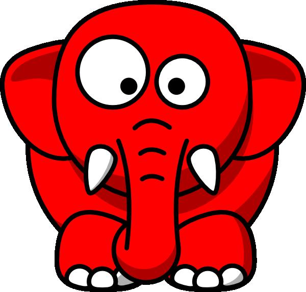 600x573 Baby Elephant Red Clip Art