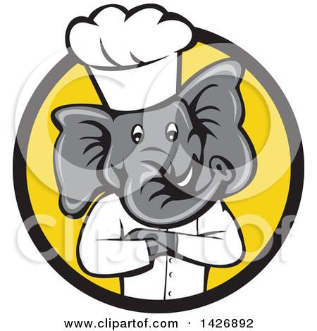 450x470 Black Yellow Elephant Clipart