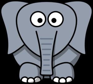 300x273 Cartoon Elephant Clip Art