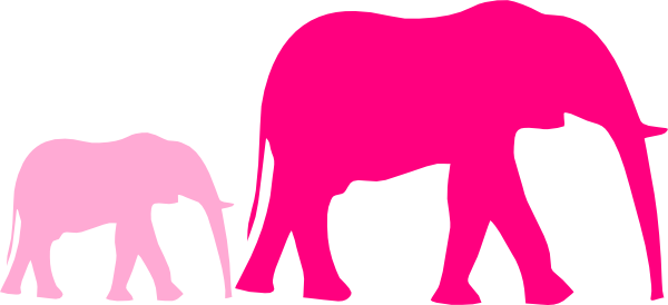 600x274 Elephant Shower Clipart