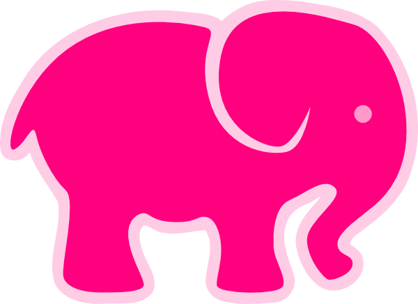 600x436 Pink On Pink Elephant Clip Art