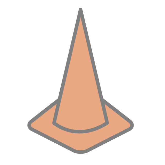 640x640 Triangular Cone Color Cone Icon Material Free Illustration
