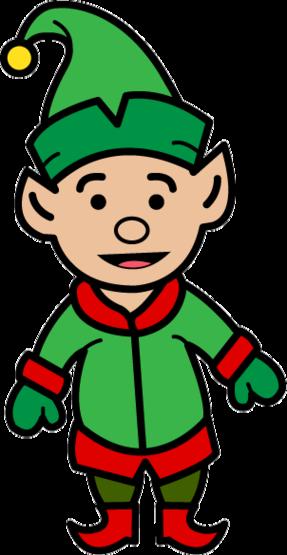 287x555 Elf Clipart