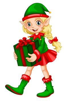 236x352 Female Christmas Elves Clipart Collection