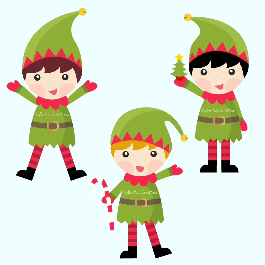 900x900 Awesome Christmas Elf Clipart Design