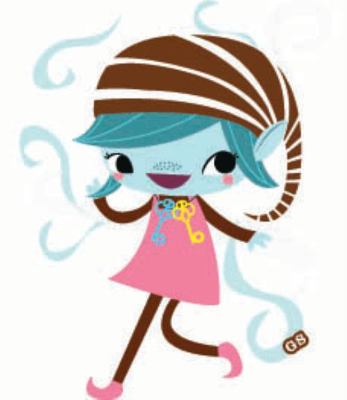 500x577 Girl Scout Brownie Elf Clipart