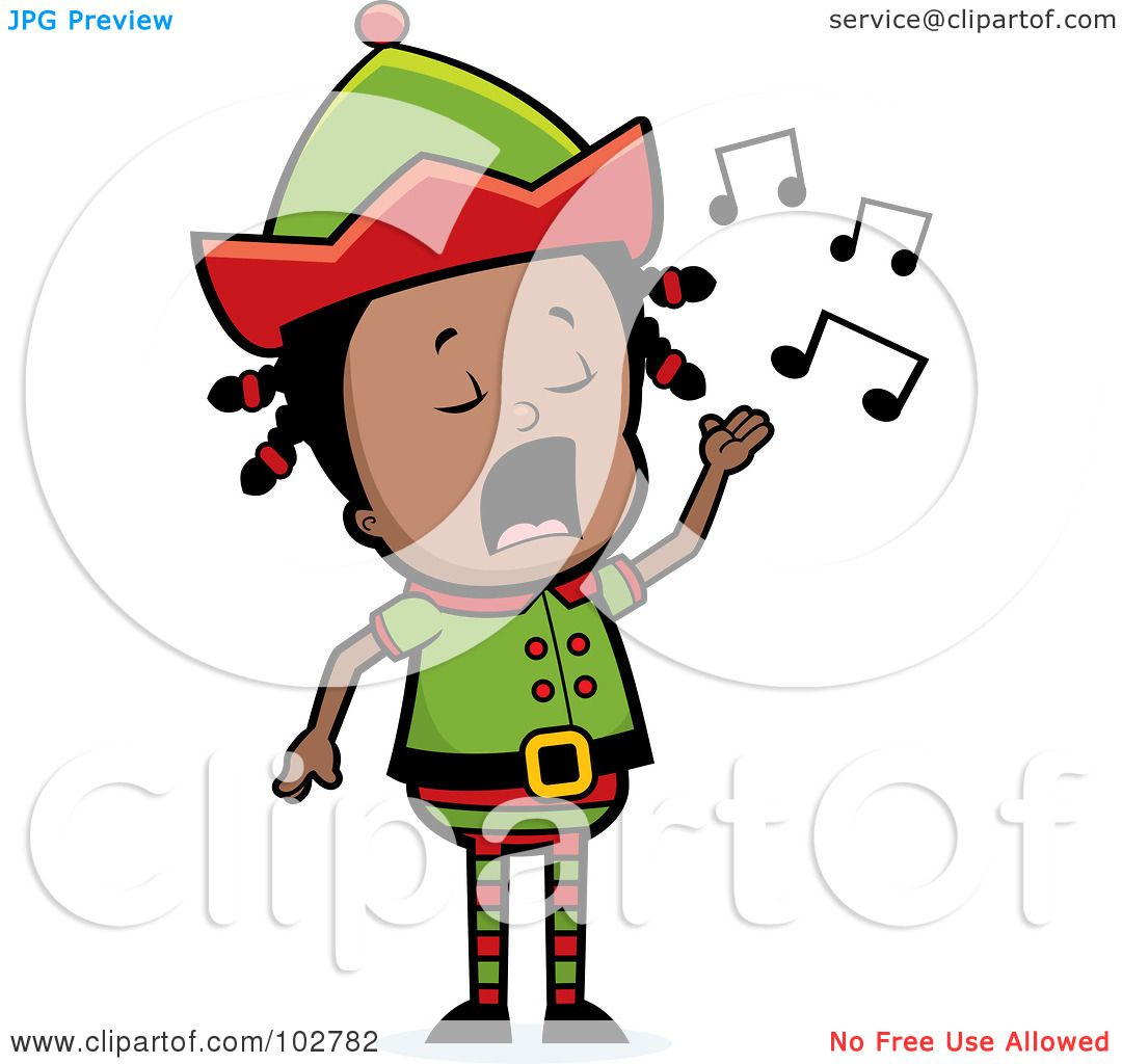 1080x1024 Royalty Free (Rf) Clipart Illustration Of A Little Black Elf Girl