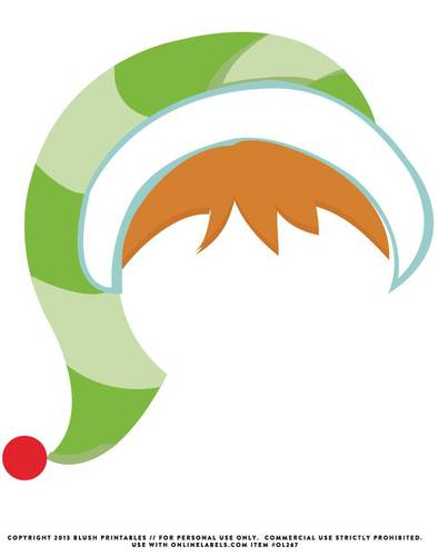 394x500 Santa Hat Clipart Photo Booth Prop