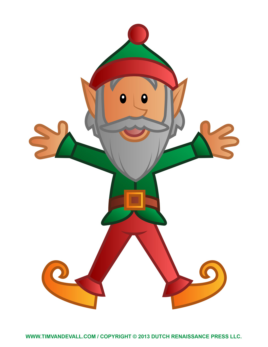 927x1200 Elf Images Printable Clipart
