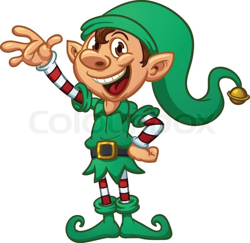 800x776 Laughing Cartoon Elf Clipart