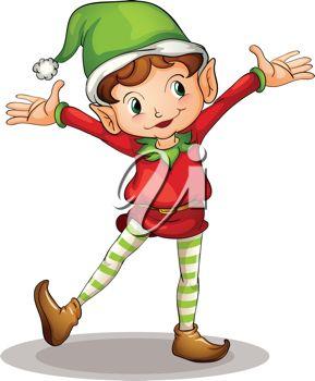 289x350 Boy Elf Clipart