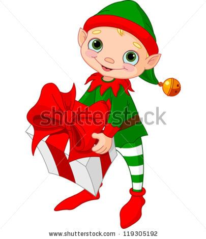 405x470 Christmas Elf Holding Gift By Pushkin, Via Shutterstock