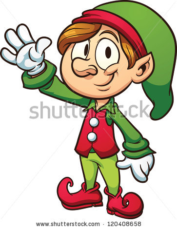 363x470 Elf On The Shelf Black And White Clipart