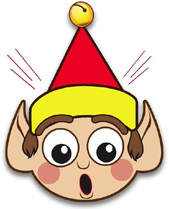 340x421 Cartoon Elf Face Clipart