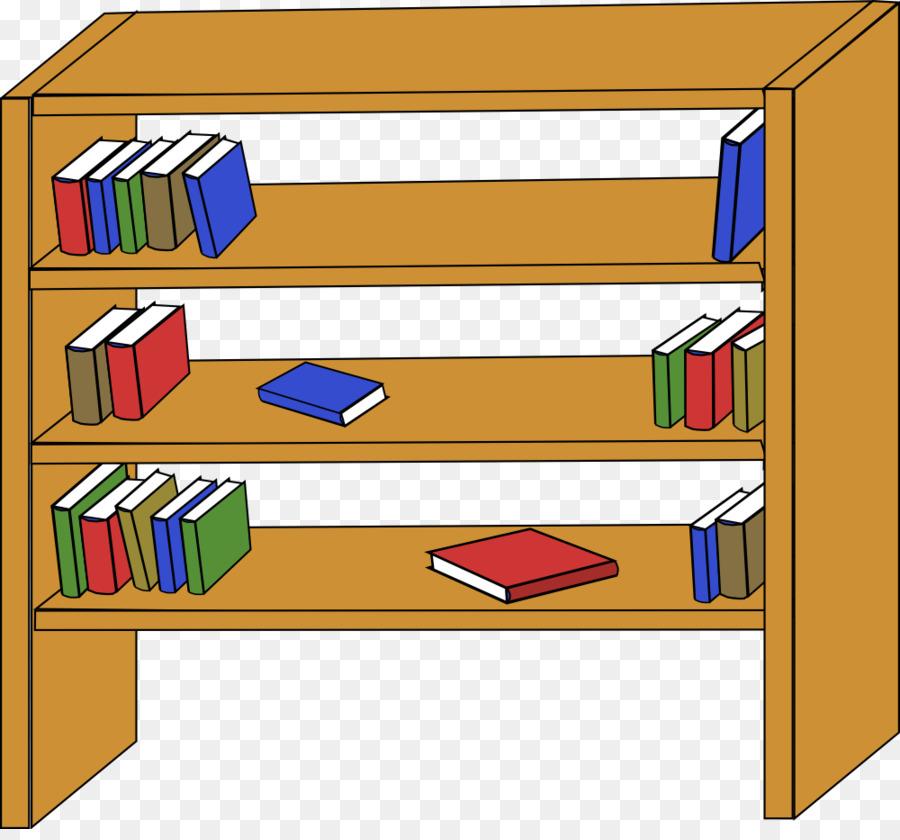 900x840 Bookcase Shelf Clip Art