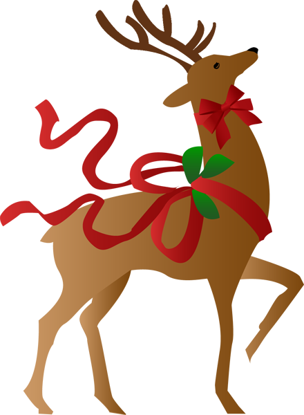 440x600 Christmas reindeer clip art clipart photo