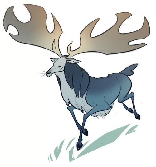 500x537 Elk Horns Clipart