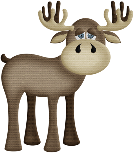 437x500 aw woodland moose 2.png Moose, Clip art and Woodworking